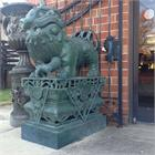 Set of Large Bronze Foo Lion Sculptures