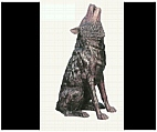 Howling Wolf Sculpture - Bronze