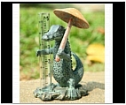 Whimsical Alligator Rain Gauge