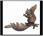 Naughty Squirrel Sculpture - Cast Iron