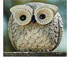 Funny Owl Figurines Pair