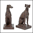 Large Greyhound Bookends
