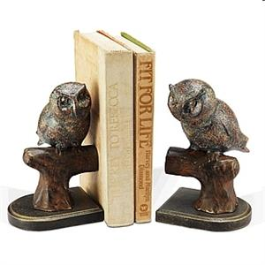 Owl on a Branch Bookends