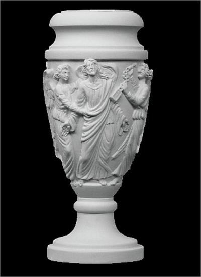 Christ the Redeemer Marble Vase Sculpture