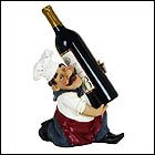 Kneeling French Chef Wine Bottle Holder