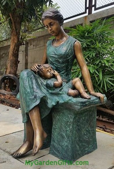 Enduring Love from a Mother Bronze Sculpture