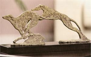 Running Greyhounds Sculpture