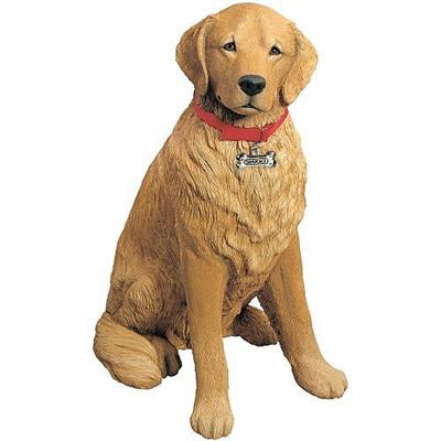 Large Golden Retriever Statue