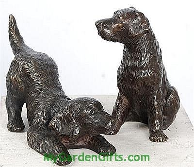 Little Golden Retriever Figurines - Pair