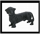 Black Dachshund Figurine - Cast Iron