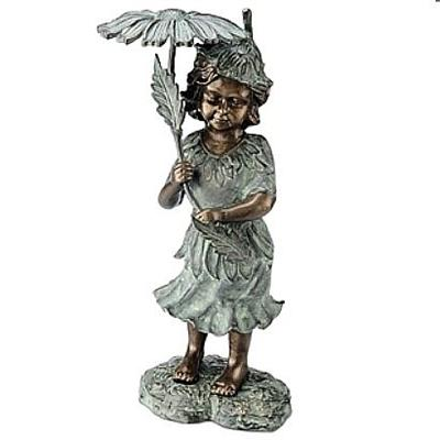 Pixie Girl Fountain Spitter Statue