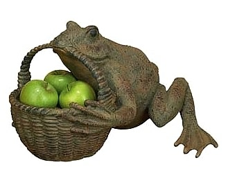 Frog Holding Planter