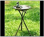 Playful Frog Bird Bath