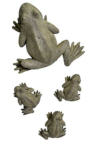 Mama and her Baby Frogs Wall Sculptures