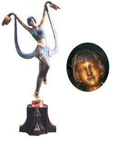 Art Nouveau Woman Dancer Sculpture