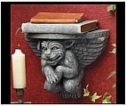 Gargoyle Wall Bracket and Shelf