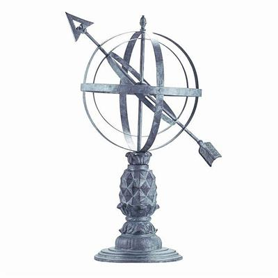 "Williamsburg Pineapple Armillary with 27""H Stand"