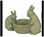Papa and Baby Bunny Garden Planter - Small