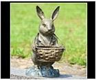 Rabbit with Basket Statue