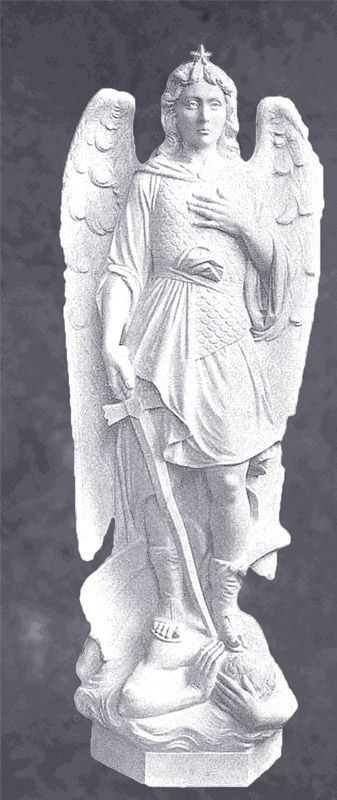 Saint Michael The Archangel Statue In Solid Marble