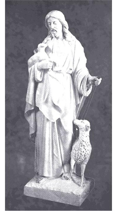 Jesus Holding Lambs Statue And Sculpture In Marble