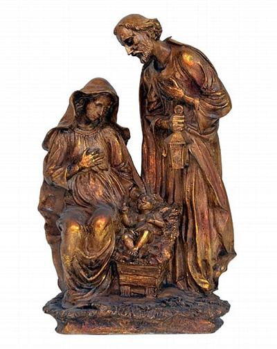 Holy Family Sculpture with Traditional Look
