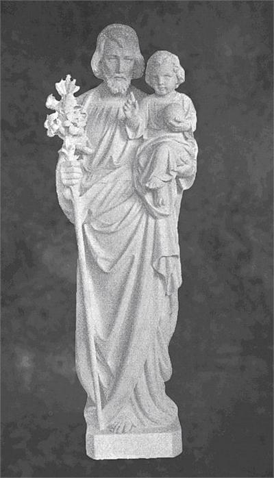 Saint Joseph With Baby Jesus Marble Sculpture