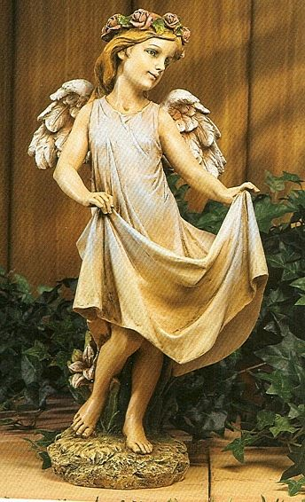 Garden Angel Bird Feeder Statue