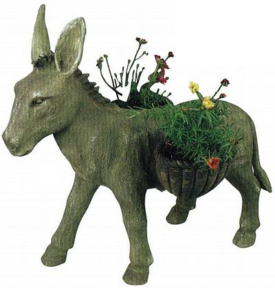 Large Donkey Garden Planter