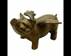 Flying Pig Statue in Rust Finish