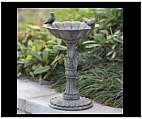 Garden Bird Bath with Bird Designs