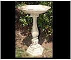 Hexagonal Acanthus Bird Bath