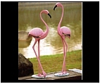Set of Flamingo Statues - Large
