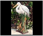 Large Heron Garden Sculpture - Colored