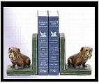 Sitting Bulldog Bookends