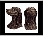Cast Iron Golden Retriever Bookends