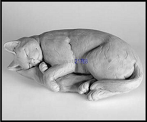 Sleeping Cat On Pillow Statue