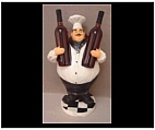 Tall Chef Wine Bottle Holder Statue