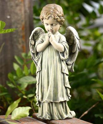 Little Boy Garden Angel Figurine.