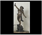 Bronze Cherub with Torch - Open Arms