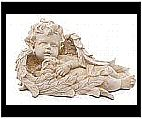Resin Sleeping Cherub with Bunny