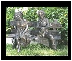 Boy and Girl on Bench