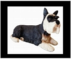 Schnauzer Statue - Colored