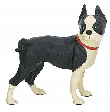 Boston Terrier Statue   Cast Iron