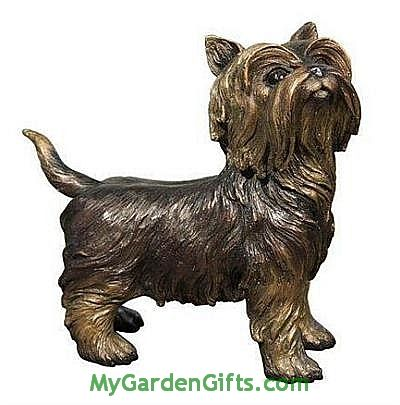 Cute Yorkshire Terrier Statue
