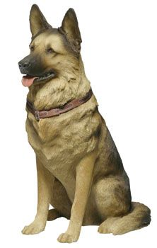 Merveilleux Life Size German Shepherd Statue And Sculpture