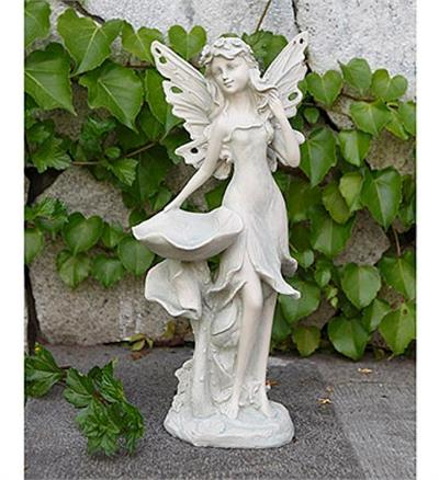 Dainty Fairy Statue And Bird Feeder