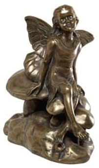 Large Brass Garden Fairy Girl