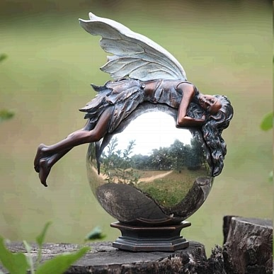 Garden Fairy Finial Sculpture