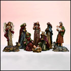 Indoor Nativity Set with Inscriptions